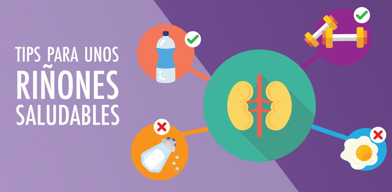 Tips para unos riñones saludables.