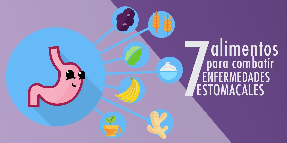 Combate las enfermedades estomacales con estos 7 alimentos