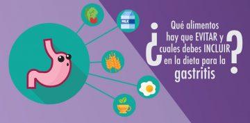 ¿Qué alimentos hay que evitar y cuales debes incluir en la dieta para la gastritis?
