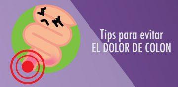 Tips para evitar el dolor de colon